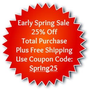 Coupon Early Spring Sale 25% Off Free Shipping